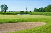 Pole golfowe — Zdjęcie stockowe