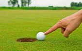 Golf cheating — Stock Photo