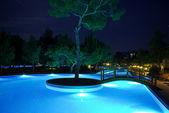 Pool at night — Stock Photo
