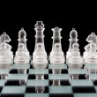 Stock Photo: Set of glass chess pieces