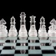 Set of glass chess pieces — Stock Photo #21181203