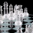 Initial move by white pawn — Stock Photo