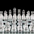 Chess pieces on chess board — Stock Photo
