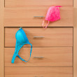 Dresser with bra — Stock Photo