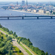 Panoramic view of Riga, Latvia — Stock Photo