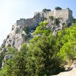 Ruins of Monolithos castle — Stock Photo
