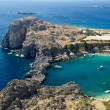 St. Paul's bay on Rhodes island — Stock Photo