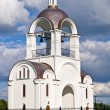Belltower of Russian orthodox church in Tallinn. — Stock Photo