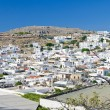 Panorama of Lindos village — Stock Photo
