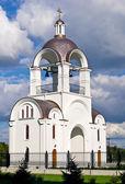 Belltower of Russian orthodox church in Tallinn. — Stock Photo