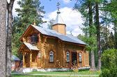 Iglesia ortodoxa de madera — Foto de Stock