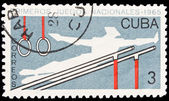 Cuba stamp, First National Sport Games — Stock Photo