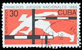 Cuba stamp hardle race — Stock Photo