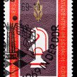GDR stamp, studen chess world chapmionship — Stock Photo