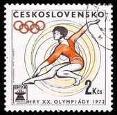 Czechoslovakia stamp, Olympic Games in 1972 — Stock Photo