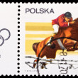 Poland stamp, steep chase — Stock Photo #36364553