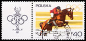 Poland stamp, steep chase — Stock Photo