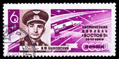 USSR stamp, Bykovsky — Foto Stock