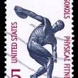 Stock Photo: USstamp, Centennial of Sokols physical fitness