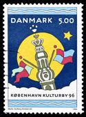 Danmark stämpel, köpenhamn - europeisk kulturhuvudstad — Stockfoto