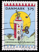 Denmark stamp, European Cultural Capital — Stock Photo