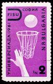 Bulgaria stamp, Summer universiade 1961 — Stock Photo
