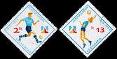 "Bulgaria stamp dedicated to sport club ""Levski"" — ストック写真"