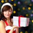 Christmas girl with gift — Stock Photo #38584051