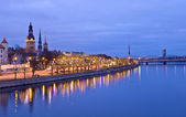 View of Riga from river — Stock Photo