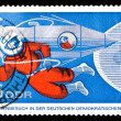 Постер, плакат: GDR stamp visit of russian cosmonauts to Eastern Germany