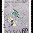 Poland stamp, great Britain setellite Ariel-2 — Stock Photo