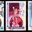 USSR stamps, cosmonautics day — Stock Photo #41393365