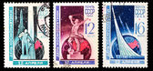 USSR stamps, cosmonautics day — ストック写真