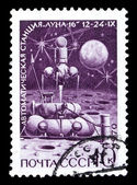 "USSR stamp, automatic moon station ""Luna 16"" starting from Moon — Stock Photo"