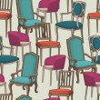 Stock vektor: Vector pattern with armchairs