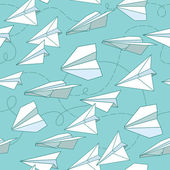 Paper planes seamless texture — Stock Vector