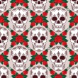 Royalty-Free Stock ベクターイメージ: Vector pattern with skulls