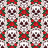 Vector pattern with skulls — Stock Vector
