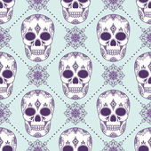 Vector pattern with skulls — Stock Vector