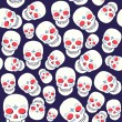 Stock Vector: Vector pattern with skulls