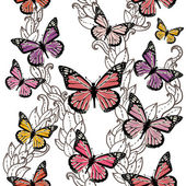 Pattern with butterflies — Wektor stockowy