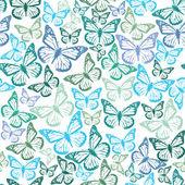 Kelebekler ile desen — Vector de stock