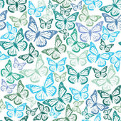 Muster mit schmetterlingen — Stockvektor