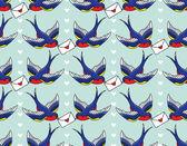 Ptaki z liter — Wektor stockowy