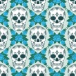 Pattern with skulls — Stock Vector
