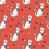 Pattern with funny cats — Stock Vector