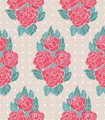 Pattern with roses — Stock Vector