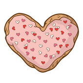 Heart-shaped cookies — Stock Vector