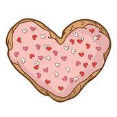Heart-shaped cookies — Stock Vector