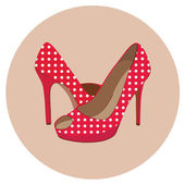 Beautiful shoes — Stock Vector